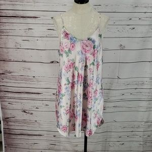 Dentelle Pink Floral Nightie lingerie sleep gown